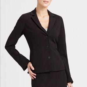 Eileen Fisher Black Stretch Ponte Blazer Jacket L